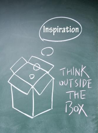 think outside the box symbol Stock Photo - 13851837