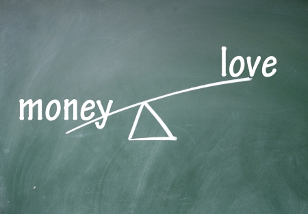 money and love choice photo