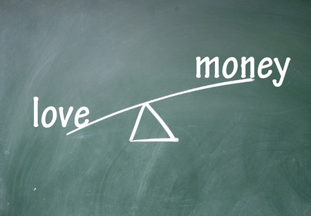 money and love choice photo