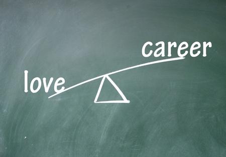 career and love choice Stock Photo - 13851672