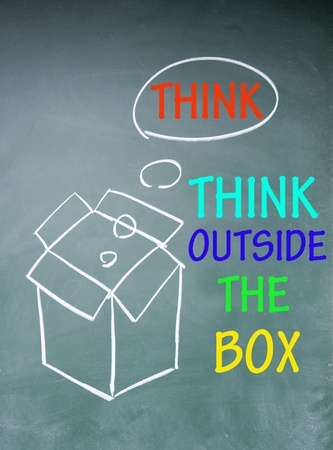 think outside the box symbol Stock Photo - 13851643