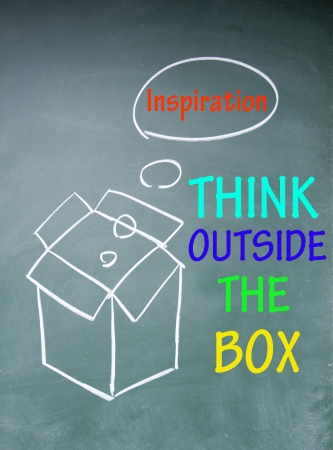 think outside the box symbol Stock Photo - 13851644