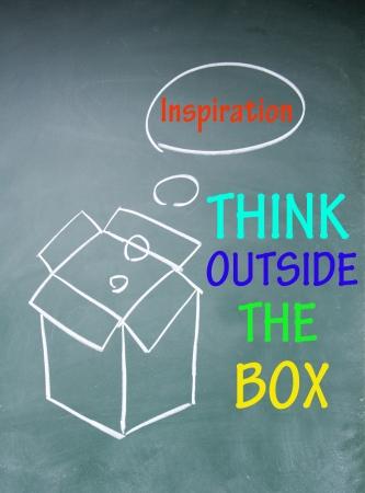 outside the box thinking: think outside the box symbol