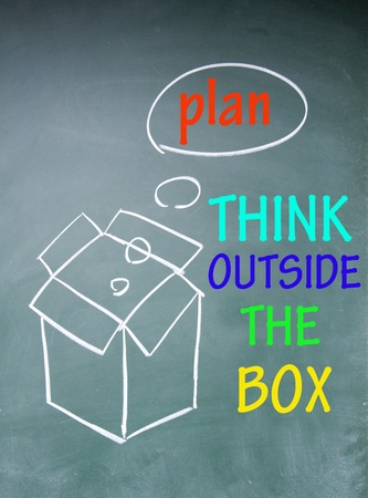 think outside the box symbol Stock Photo - 13851642