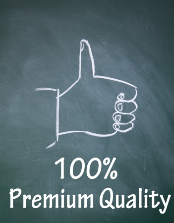 100  premium quality symbol Stock Photo - 13852157