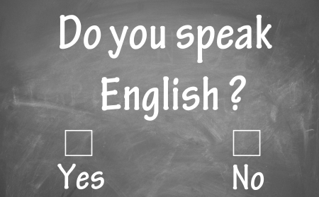 do you speak english test  Stock Photo - 13852986