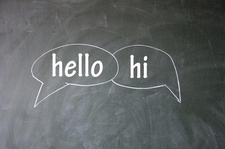 discourse: hello and hi symbol