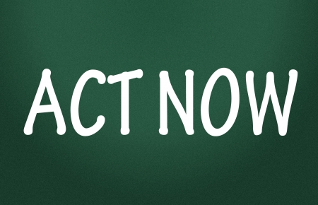 act now symbol Stock Photo