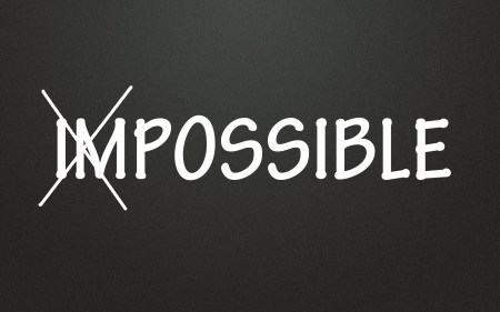 impossible and possible sign Stock Photo - 14003857