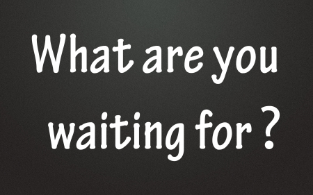 hesitation: what are you waiting for symbol