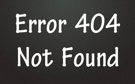 fault: error 404 not found symbol  Stock Photo