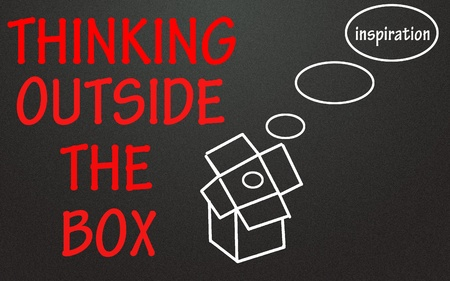 thinking outside the box symbol  Stock Photo - 14003850