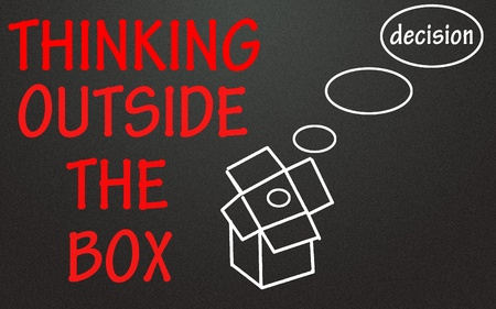 thinking outside the box symbol  Stock Photo - 14003839