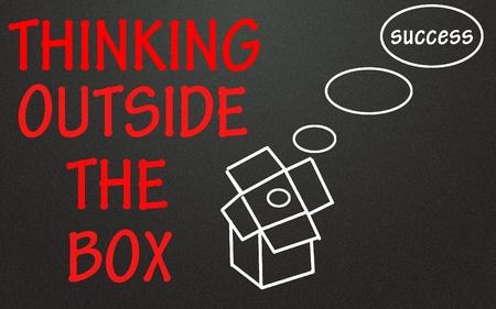 thinking outside the box symbol  photo