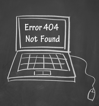 found: error 404 not found symbol  Stock Photo
