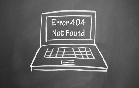 error 404 not found symbol  Stock Photo