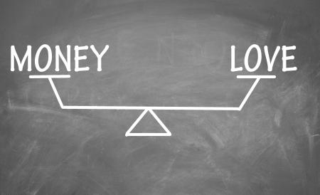 Balance of money and love photo