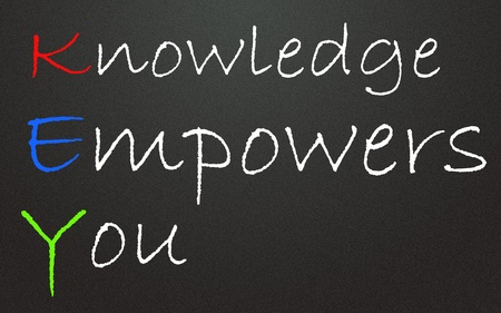 knowledge empowers you symbol  photo