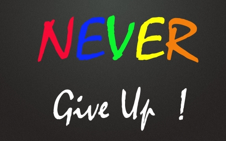never give up symbol  photo