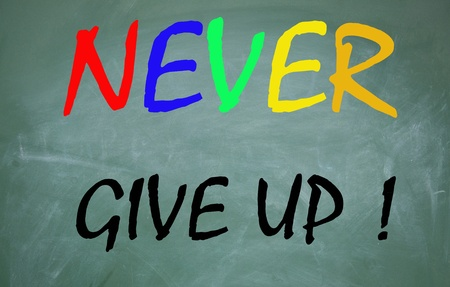 never: never give up symbol