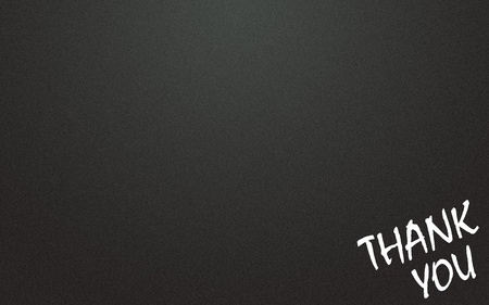 lacunae: thank you symbol and blackboard background