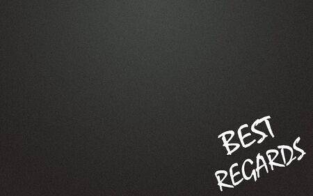best regards  symbol and blackboard background photo