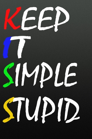keep it simple stupid symbol  photo