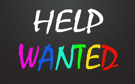 recruit help: Help wanted title