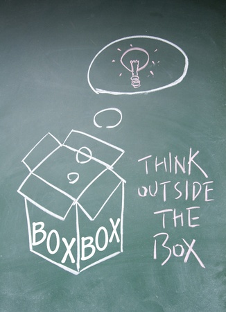 think outside the box symbol Stock Photo - 14164393