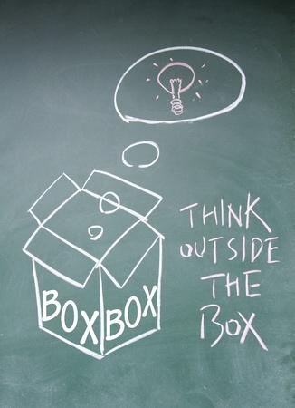 think outside the box symbol Stock Photo - 14164393