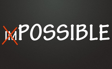 impossible and possible sign Stock Photo - 14224761