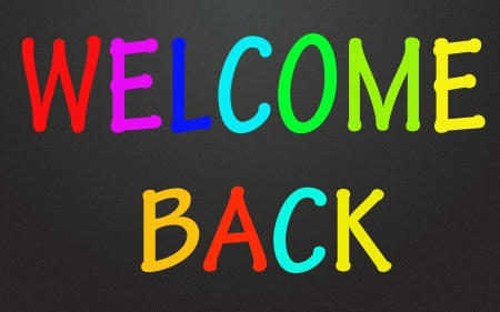 welcome back symbol  photo