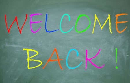 welcome back symbol Stock Photo - 14224782
