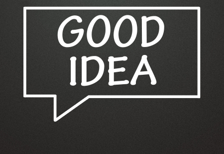 good idea and chat symbol  photo