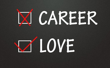 career and love choice Stock Photo - 14309105