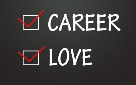 career and love choice Stock Photo - 14309107