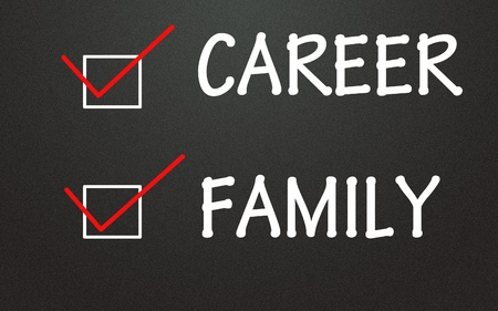 career and family choice Stock Photo - 14309103