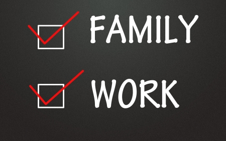 family and work choice Stock Photo - 14309104