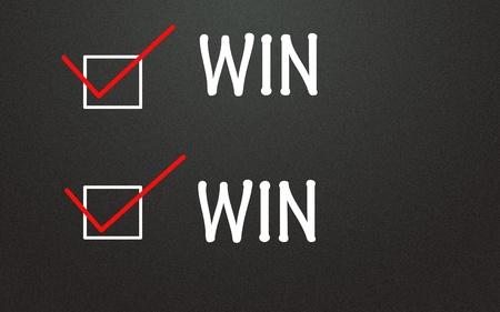 wood tick: win-win symbol