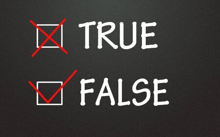 true and false choice Stock Photo - 14309009