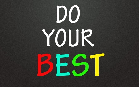 do your best symbol  Stock Photo - 14309007