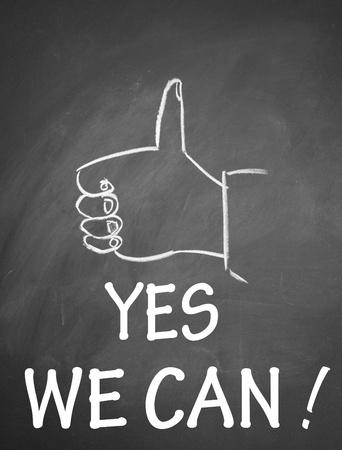 楽観: はい私たちすることができますシンボル 写真素材