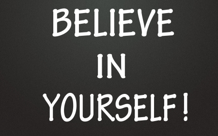 inspiration determination: believe in yourself symbol