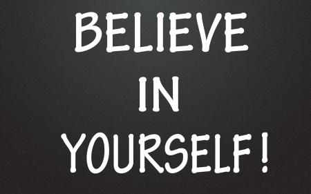 zelf doen: geloof in jezelf symbool