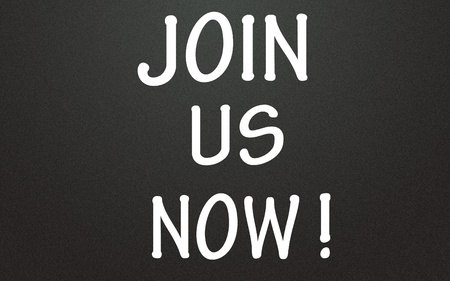 join us now symbol Stock Photo - 14309006
