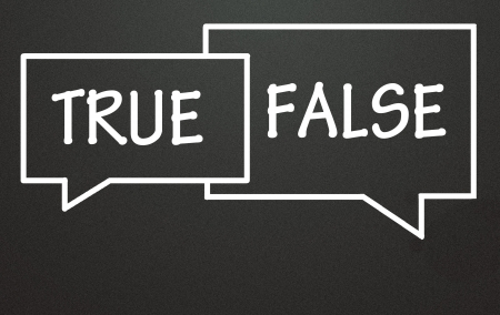 true and false chat symbol  photo