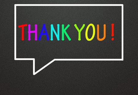thank you and chat symbol Stock Photo - 14309001