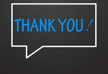thank you and chat symbol Stock Photo - 14309002