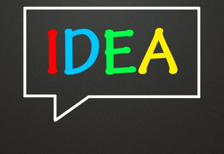 idea and chat symbol Stock Photo - 14309016