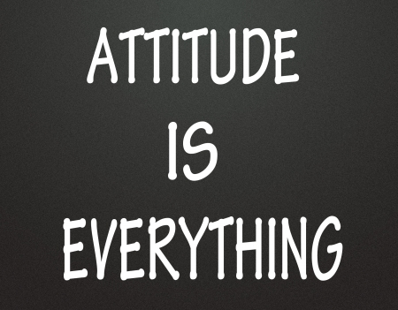 attitude is everything symbol  photo